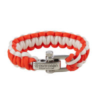 PARACORD SURVIVAL BRACELET 2.0 RED WHITE-PENTAGON